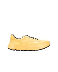 Baskets basses en cuir jaunes Officine Creative