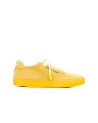 Baskets basses en cuir jaunes Philipp Plein