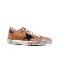 Baskets basses en cuir marron clair Golden Goose Deluxe Brand