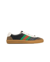 Baskets basses en cuir multicolores Gucci