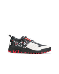 Baskets basses en cuir multicolores Kenzo