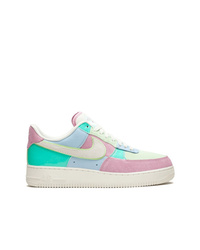 Baskets basses en cuir multicolores Nike
