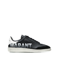 Baskets basses en cuir noires et blanches Isabel Marant