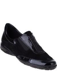 Baskets basses en cuir noires
