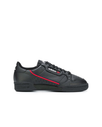 Baskets basses en cuir noires adidas