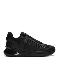 Baskets basses en cuir noires Balmain