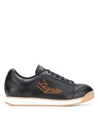 Baskets basses en cuir noires Ermenegildo Zegna