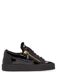 Baskets basses en cuir noires Giuseppe Zanotti