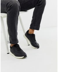 Baskets basses en cuir noires Jack & Jones