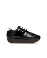 Baskets basses en cuir noires Marni