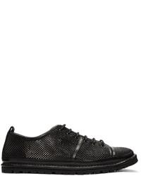 Baskets basses en cuir noires Marsèll