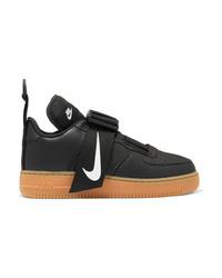Baskets basses en cuir noires Nike