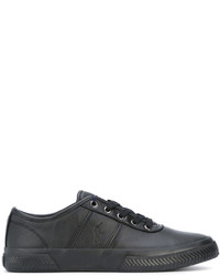 Baskets basses en cuir noires Polo Ralph Lauren