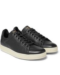 Baskets basses en cuir noires Tom Ford
