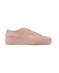 Baskets basses en cuir roses Common Projects