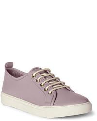 Baskets basses en cuir violet clair