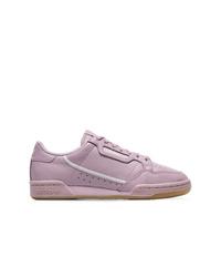 Baskets basses en cuir violet clair adidas