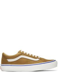 Baskets basses en daim à rayures horizontales marron Vans