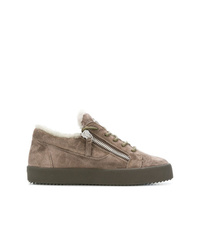 Baskets basses en daim marron Giuseppe Zanotti Design