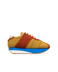 Baskets basses en daim multicolores Marni