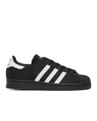 Baskets basses en daim noires et blanches adidas Originals