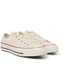 Baskets basses en toile beiges Converse
