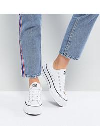 Baskets basses en toile blanches Converse