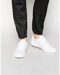 Baskets basses en toile blanches Fred Perry