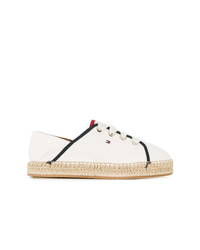 Baskets basses en toile blanches Tommy Hilfiger