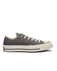 Baskets basses en toile gris foncé Converse
