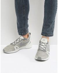 Baskets basses en toile grises Nike