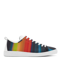 Baskets basses en toile imprimées multicolores Ps By Paul Smith