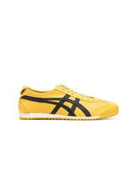 Baskets basses en toile jaunes Asics