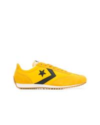 Baskets basses en toile jaunes Converse