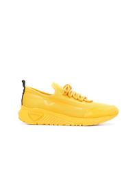 Baskets basses en toile jaunes Diesel