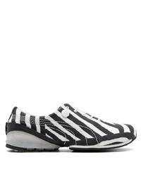 Baskets basses en toile noires et blanches Puma