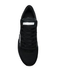 Baskets basses en toile noires Philippe Model