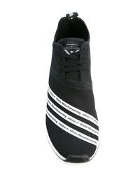 Baskets basses en toile noires adidas