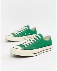Baskets basses en toile vertes Converse