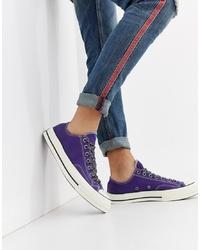 Baskets basses en toile violettes Converse