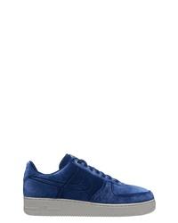 Baskets basses en velours bleu marine