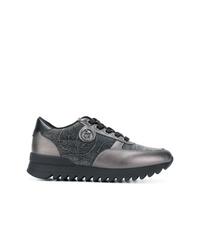 Baskets basses gris foncé Armani Jeans
