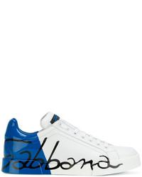 Baskets basses imprimées blanches Dolce & Gabbana