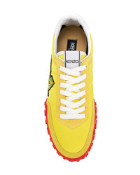 Baskets basses jaunes Kenzo
