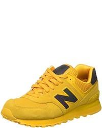 Baskets basses jaunes New Balance