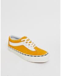 Baskets basses jaunes Vans