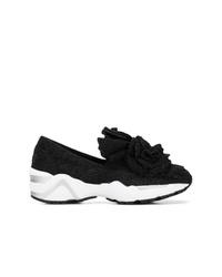 Baskets basses noires et blanches Suecomma Bonnie