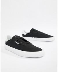 Baskets basses noires Adidas Skateboarding