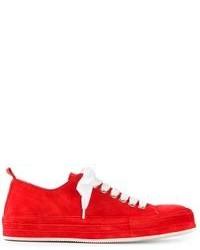 Baskets basses rouge et blanc Ann Demeulemeester