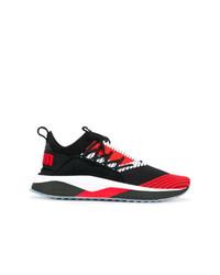Baskets basses rouge et noir Puma